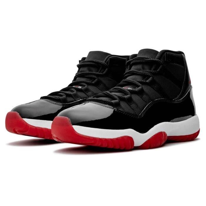 jordan retro 11 noir et rouge pas cher